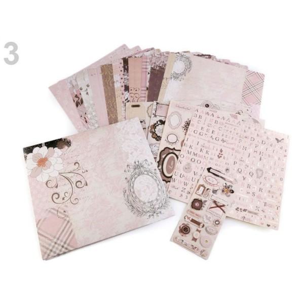 1set 3 Misty Rose Bricolage Scrapbooking Album Kit Et Accessoires, de décors, de Paperolle, de l'Art - Photo n°1