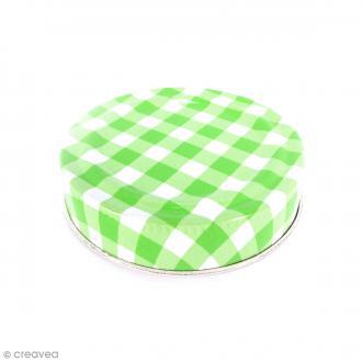 Couvercle Vert pour Mason Jar - Vichy