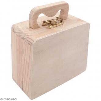 Valise en bois à décorer - 10 x 8,5 x 5 cm