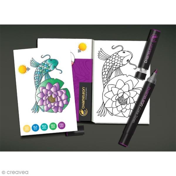 Cartes à colorier pour marqueurs Chameleon - Nature - 16 pcs - Photo n°2