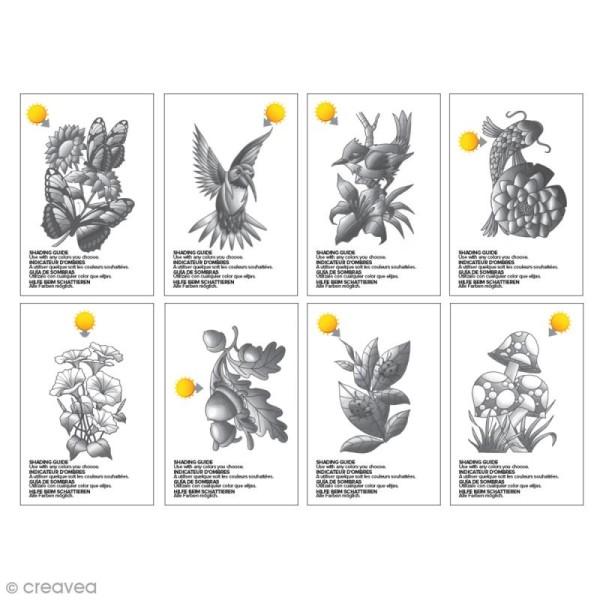 Cartes à colorier pour marqueurs Chameleon - Nature - 16 pcs - Photo n°4
