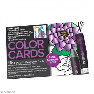 Cartes à colorier pour marqueurs Chameleon - Nature - 16 pcs