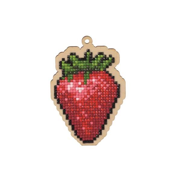 Broderie Diamant Kit- La fraise WW124- Mini - Photo n°1