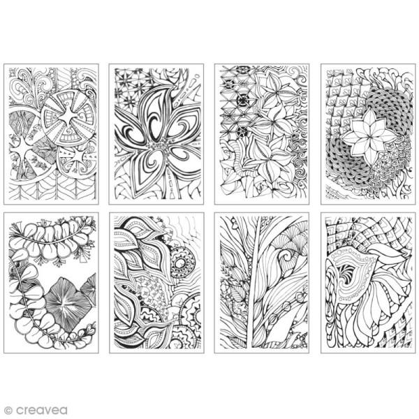 Cartes à colorier pour marqueurs Chameleon - Zen - 16 pcs - Photo n°3