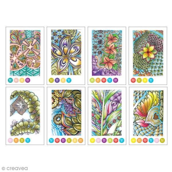 Cartes à colorier pour marqueurs Chameleon - Zen - 16 pcs - Photo n°5
