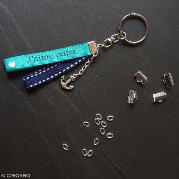 Anneaux de porte-clés avec chaînette -  200 pcs - Photo n°1
