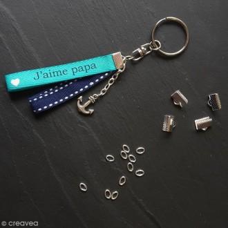 Anneaux de porte-clés avec chaînette -  200 pcs