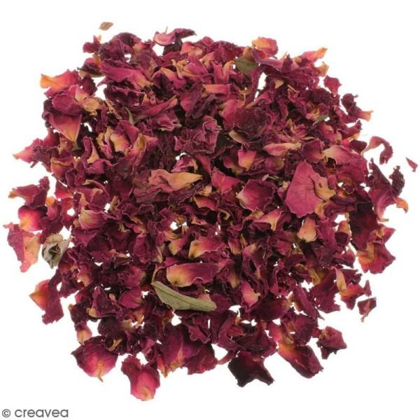 Fleurs séchées de Roses rouges - 3 g - Photo n°1