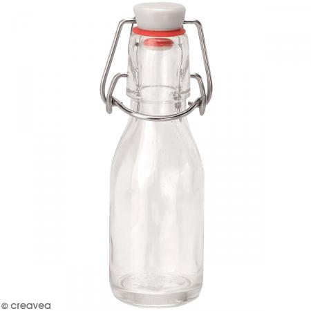 bouteille en verre avec syst me fermeture m tal 100 ml. Black Bedroom Furniture Sets. Home Design Ideas