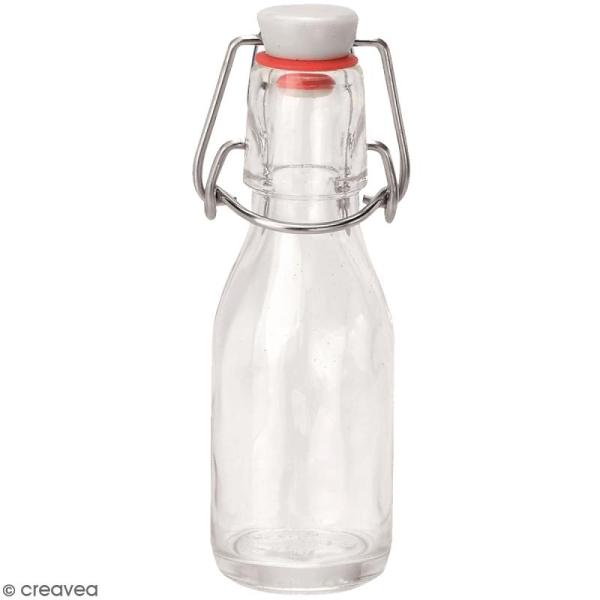 Bouteille en verre avec système fermeture métal - 100 ml - Photo n°1