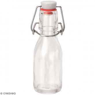 Bouteille en verre avec système fermeture métal - 100 ml