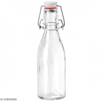 Bouteille en verre avec système fermeture métal - 200 ml