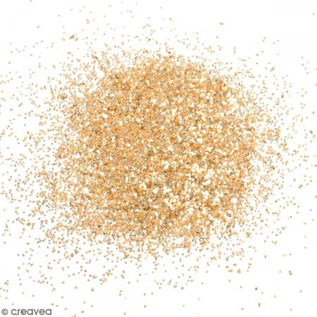 Paillettes pour cosmétiques - Doré - 1 g - Photo n°1