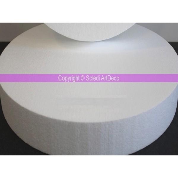 Disque XL épaisseur 10 cm, diamètre 70 cm, Socle polystyrène pro haute densité, 28 kg/ m3 - Photo n°1