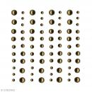 Demi-perles adhésives Dorées - 80 pcs - Photo n°1
