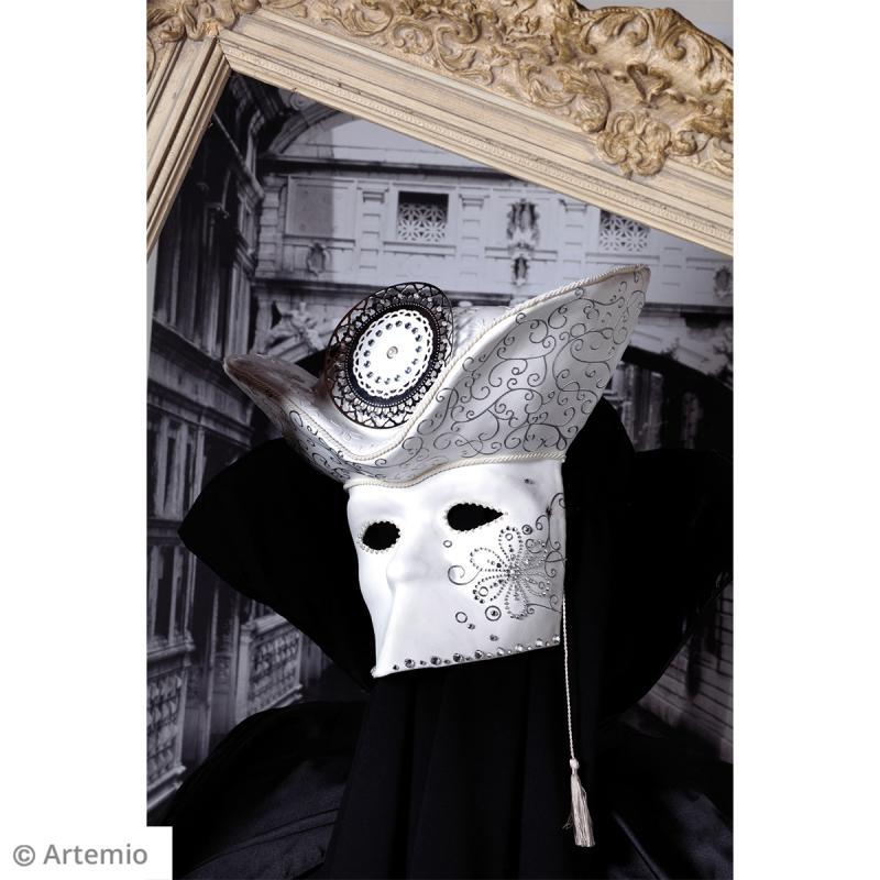 Demi-perles adhésives Grises argentées - 80 pcs - Photo n°2
