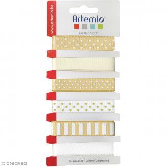 Rubans Artemio - Lollipop beige - 1 cm x 1 m - 6 pcs
