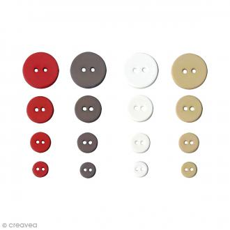 Boutons Ronds assortiment Love - 36 pcs