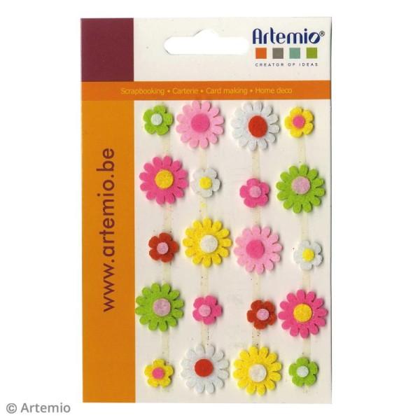 Forme en feutrine Décoration - Fleurs marguerites - 20 pcs - Photo n°2