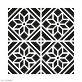 Pochoir tissu acheter pochoir peinture textile au for Decoration porte au pochoir