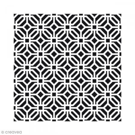 Pochoir home deco moucharabieh 30 x 30 cm pochoir for Pochoir geometrique
