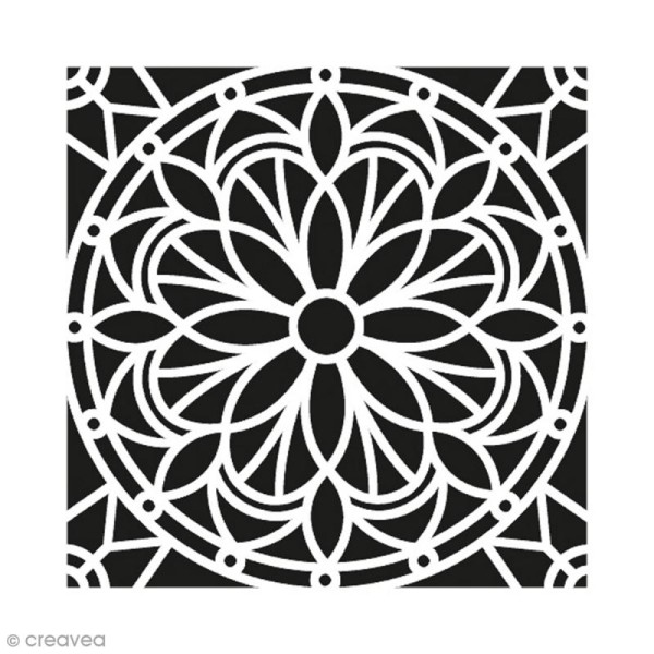 Pochoir Home Deco - Mandala - 30 x 30 cm - Photo n°1