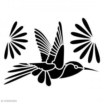 Pochoir Home Deco - Colibri - 21 x 29,7 cm