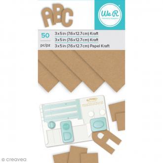Bloc de papiers kraft - 7,6 x 12,7 cm - 50 pcs