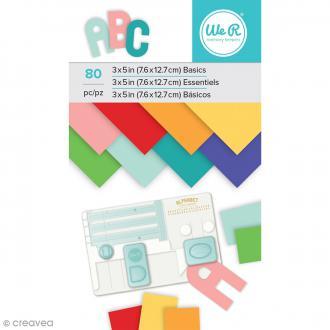 Bloc de papiers Multicolores - 7,6 x 12,7 cm - 80 pcs