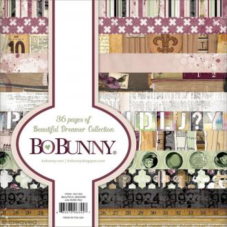 Bloc de papiers Bo Bunny - Beautiful Dreamer - 36 pages de 15,2 x 15,2 cm