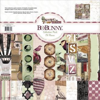 Kit scapbooking Bo Bunny - Beautiful Dreamer - Papiers 30,5 x 30,5 cm et Stickers