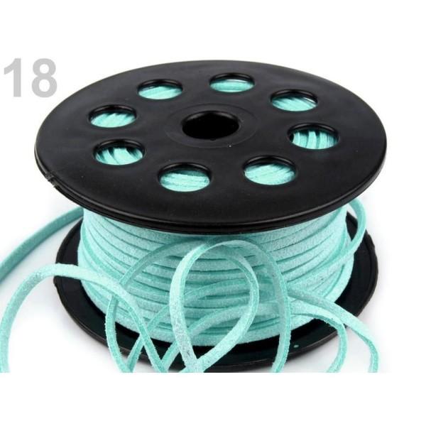 30m 18 Turquoise Lumière Plate en simili-Cuir Cordon Largeur 3mm, Cordes Matériel, des Perles - Photo n°1
