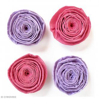 Fleurs spirales en papier 3 cm - Mulberry Blush - 4 pcs