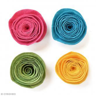 Fleurs spirales en papier 3 cm - Candy Crush - 4 pcs