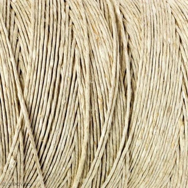 Corde de chanvre naturel - 1 mm x 74 m - Photo n°1
