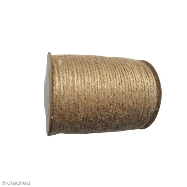 Cordon en jute naturel - 2 mm x 100 m - Photo n°1