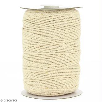 Cordon en coton naturel - 2 mm x 200 m