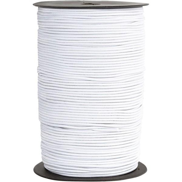 Cordon élastique - Blanc - 2 mm x 250 m - Photo n°1
