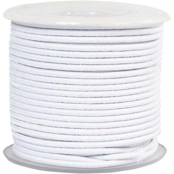 Cordon élastique - Blanc - 2 mm x 25 m - Photo n°1