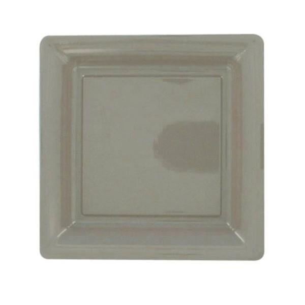 12 assiettes gris/taupe 22 cm PVC - Photo n°1