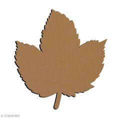 Forme en bois à décorer - Feuille de Marronnier - 6,5 x 7 cm