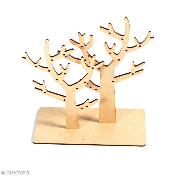 Arbre porte-bijoux en bois à décorer - 24 cm - Photo n°1