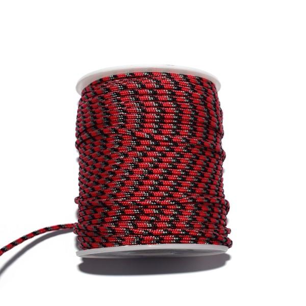 Paracorde 2,5 mm rouge, noir et gris x1 m - Photo n°1