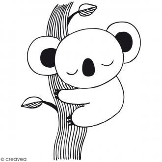 Tampon bois Koala - 6,5 x 4,6 cm