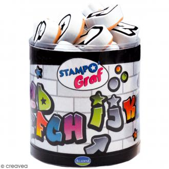 Kit de tampons Stampo - Alphabet Graf - 32 pcs
