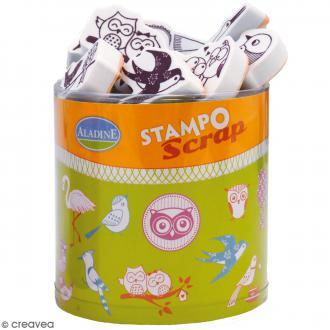Kit de tampons Stampo Scrap - Oiseaux - 26 pcs