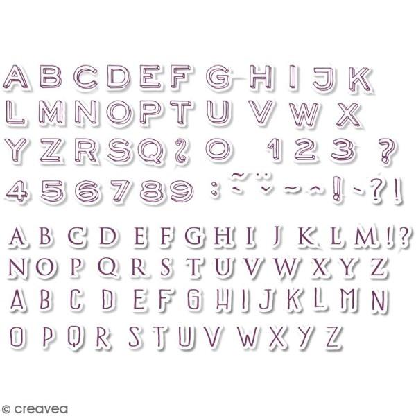 Kit de tampons Stampo Scrap - Mini Alphabet - 104 pcs - Photo n°2
