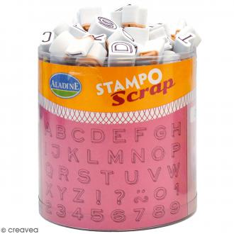 Kit de tampons Stampo Scrap - Mini Alphabet - 104 pcs