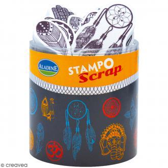 Kit de tampons Stampo Scrap - Ethnic - 22 pcs