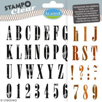 Tampons Clear Aladine - Alphabet Stratford - Planche de 15 x 12,5 cm - 44 pcs
